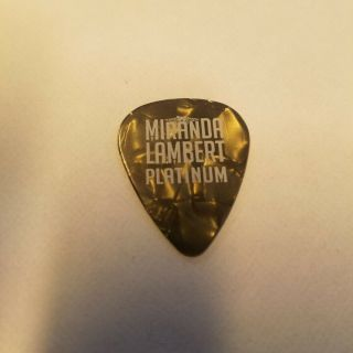 Miranda Lambert Chris Kline Guitar Pick - 2014 Platinum Tour