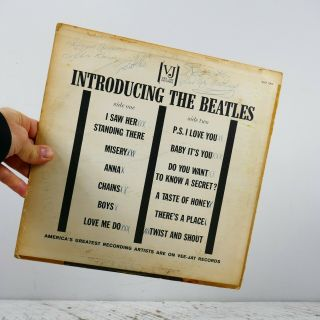 Beatles Introducing The Beatles Vj Vee Jay Vjlp 1062 Signed Autographed Lp