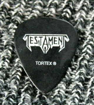Testament // Chuck Billy 2010 Carnage Tour Guitar Pick // Black/white Tortex