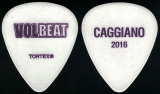 Volbeat - Rare 2016 Tour Guitar Pick - Rob Caggiano - Anthrax White/purple Name,  Year