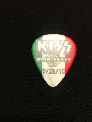 Kiss Hottest Earth Tour Guitar Pick Paul Stanley Mexico 9/28/10 Signed Rock Rare