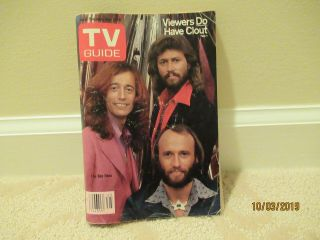 Bee Gees Tv Guide November 1979 Barry Robin Maurice Gibb Color Photo Cover L@@k