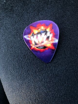 Kiss Hottest Earth Tour Guitar Pick Paul Stanley Signed Puerto Rico 3/12/11 Rare