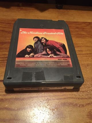 The Monkees/ Greatest Hits 1972 Arista Records 8 Track Tape Black