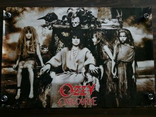 Vintage Ozzy Osbourne Poster,  No Rest For The Wicked