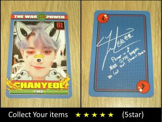 Exo 4th Repackage Album The Power Of Music Chanyeol B Official Photo Card