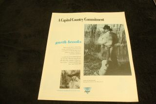 Garth Brooks 1991 Ad For Debut Album With Much Too Young (to Feel This Damn Old)