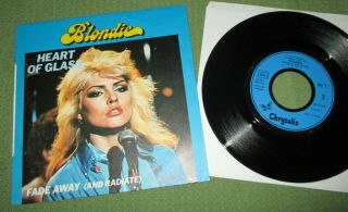 """Blondie Heart Of Glass France Unique Sleeve 7 """" 45 11:59 French 6172 676 Ex,"""