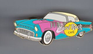 Hard Rock Cafe Pin: Stockholm T - Bird With Pink Guitar Le300
