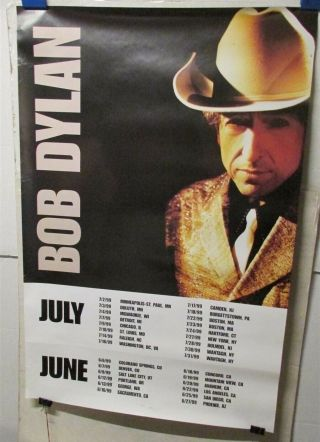 """Bob Dylan On Tour 1999 2 Sided 24x36 """" Promo Cd Store Poster [r70]"""