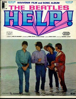 Help The Beatles 1965 Souvenir Film & Song Album - Guitar Edition