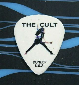 The Cult // Billy Duffy 2012 Choice Of Weapon Tour Guitar Pick // White/black
