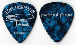 Primal Fear White/blue Pearl Tour Guitar Pick
