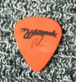 Whitesnake // Reb Beach Tour Guitar Pick // Orange/black Alice Cooper