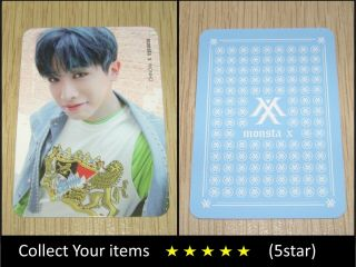 Monsta X 1st Repackage Album Shine Forever Shine Wonho Official Photo Card