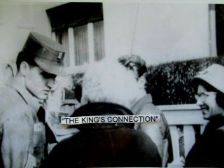 Photo Unseen Army Elvis Talking With Fans In Front Of Appt.  In Germany