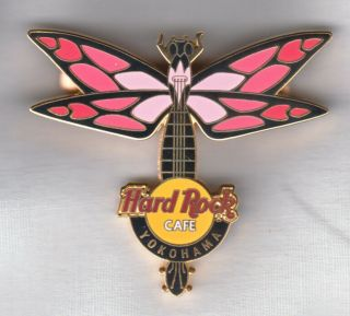 Hard Rock Cafe Pin: Yokohama Dragonfly In Pinks Le400