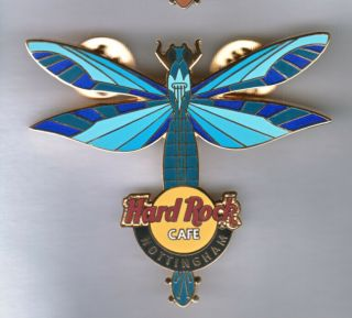 Hard Rock Cafe Pin: Nottingham Dragonfly In Blues Le250