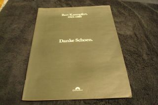 "Bert Kaempfert 1923 - 1980 Tribute Ad With "" Danke Schoen "" German Orchestra Leader"