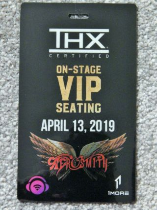 Aerosmith On - Stage Vip Seating Credential April 13 2019 Park Theater Las Vegas