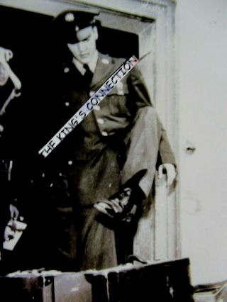 Photo - Army - Elvis Stepping Over Luggage Getting Off Of The Train