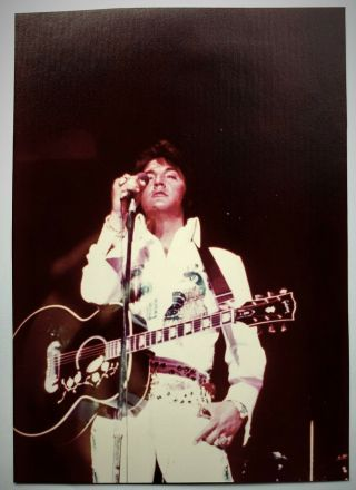 "Elvis Presley - 5 "" X 7 "" Concert Photo - Lake Tahoe - May 1974 -"
