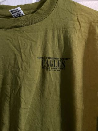 Vintage Eagles Hell Freezes Over 94 Concert Tour Crew Shirt Xl Never Worn