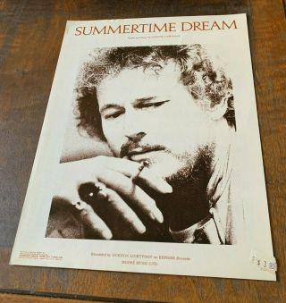 Gordon Lightfoot Sheet Music Summertime Dream Us