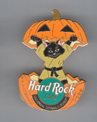 Hard Rock Cafe Pin: Uc Osaka 2003 Halloween Jack - O - Lantern & Black Cat Le300