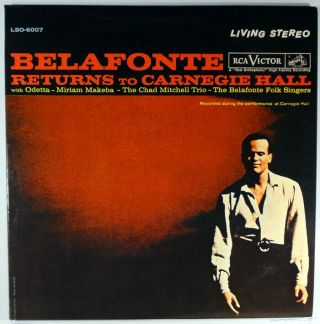 Belafonte Returns To Carnegie Hall - 2 Lp Stereo - Odetta Makeba Mitchell - Unplayed