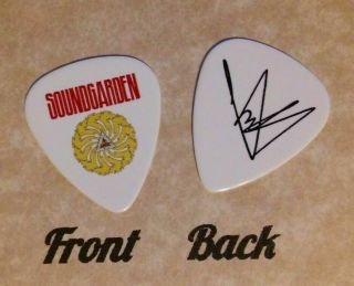 Soundgarden Band Chris Cornell Signature Logo Guitar Pick - (w)