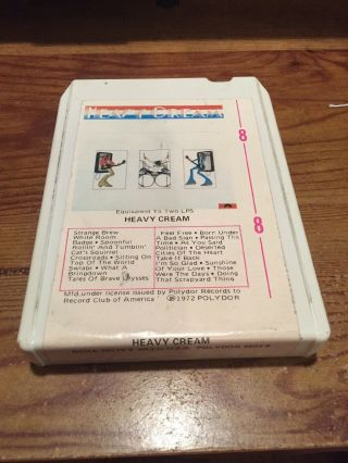 Cream/ Heavy Cream 1972 Polydor Records 8 Track Tape