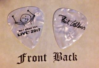 Collins - Phil Collins Band Logo Signature Guitar Pick (genisis) - (w)
