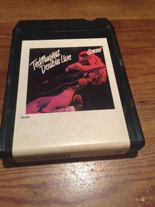 Ted Nugent / Double Live Gonzo 1978 Cbs Records 8 Track Tape