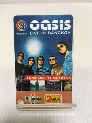 Oasis Live In Bangkok July 2001 Stub Ticket