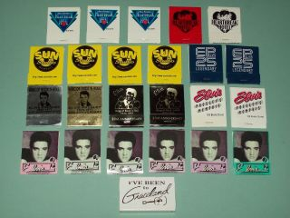 Set Of 24 Elvis Presley Matchbooks - New/unstruck - 14 Different Varieties