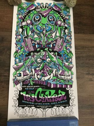 Steven Cerio With Special Guests,  The Coup Les Claypool Poster Signed Numbered