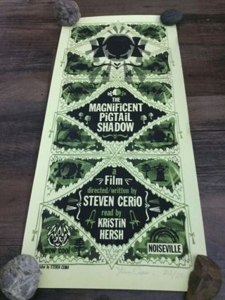 Steven Cerio Film The Magnificent Pigtail Shadow Promotion Poster Signed
