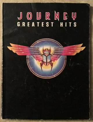 Journey Greatest Hits Sheet Music Songbook 1984 Lyrics