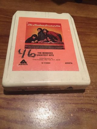 The Monkees/ Greatest Hits 1972 Arista Records 8 Track Tape