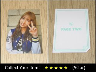 Twice 2nd Mini Album Page Two Cheer Up Blue Momo B Official Photo Card