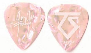 Twisted Sister White/dark Pink Pearl Tour Guitar Pick
