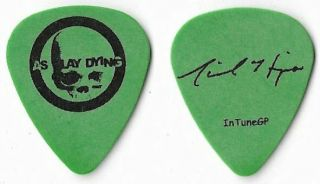 As I Lay Dying Black/green Tour Guitar Pick