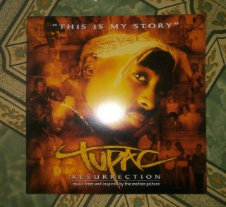 2pac Tupac Resurrection 12x12 Promo Poster