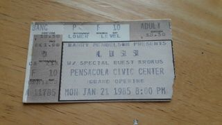 Kiss Pensacola Civic Center Grand Opening Animalize Concert Ticket,  1/21/1985