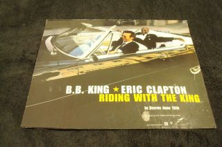 "B.  B.  King,  Eric Clapton 2001 Ad Riding In Car,  For Hit "" Riding With The King """
