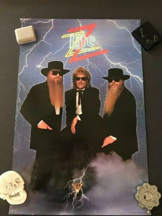 Zz Top - Recycler Tour 1990 - Miller Lite Promo Poster Lil Ol