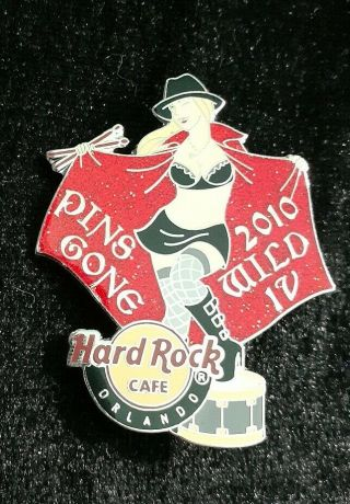 Hard Rock Cafe Orlando 2010 Sexy Blonde Pins Gone Wild Girl