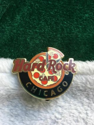 Hard Rock Cafe Pin Chicago Global Logo Series - Chicago Pizza W Slice Cut