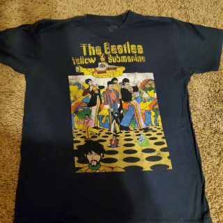 Beatles Yellow Submarine Size Large Shirt Rare Paul Mccartney John Lennon
